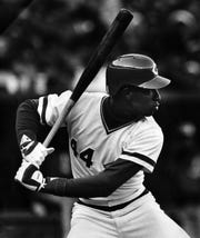 Eric Davis set  setting the National League record with three home runs in one month in May, 1987.