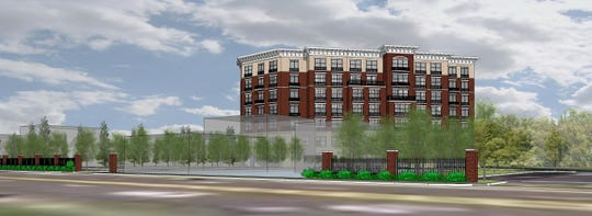Here's a rendering of a 100-room hotel a development team wants to build in Hyde Park.
