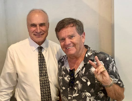 """Old Bridge Mayor Owen Henry with new Alliance member and celebrity Butch Patrick from """"The Munsters."""""""