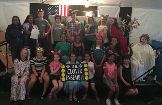 "Since September 2018, the Clover Ensemble, the Somerset County 4H's acting club, has been working on its hour-long Fair performance, ""Into the Forest."""