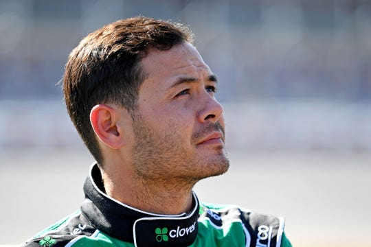 Kyle Larson, in this file photo, faced some adversity Wednesday night at the 59th Knoxville Nationals.