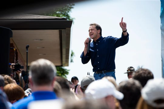 Montana Gov. and 2020 Democratic presidential candidate Steve Bullock at the Iowa State Fair on Thursday, Aug. 8, 2019 in Des Moines.