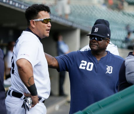 Detroit Tigers' JaCoby Jones leaves after getting hit by pitch on left wrist
