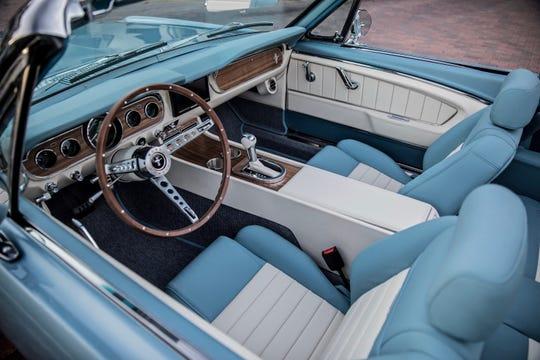 1966  Mustang GT Convertible, Silver Blue.