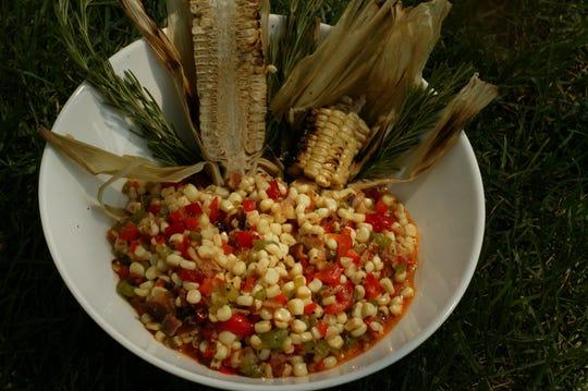 Detail of Pastor Winan's fried corn.