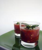 A cool summer gazpacho.