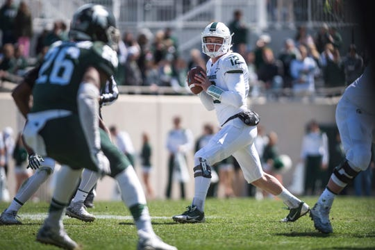 Quarterback Rocky Lombardi played in eight games last season for Michigan State, and enters this season as Brian Lewerke's backup.