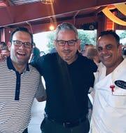 From left, celebrity judge Ryan Ermanni, Scott Rutterbush and chef Bobby Nahra