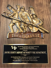 The 2019 Great Lakes Chapter of American Association of Airport Executives Aircraft Rescue & Fire Fighting Achievement Award was presented last month.