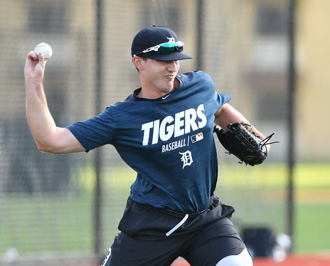 John Schreiber finally got the call to the big leagues on Thursday after working his way up the Tigers' farm system since 2016.