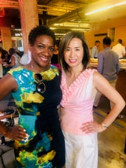 Big Brothers Big Sisters CEO Jeannine Gant, left, and Jocelyn Chen from DESIGNCONNECT