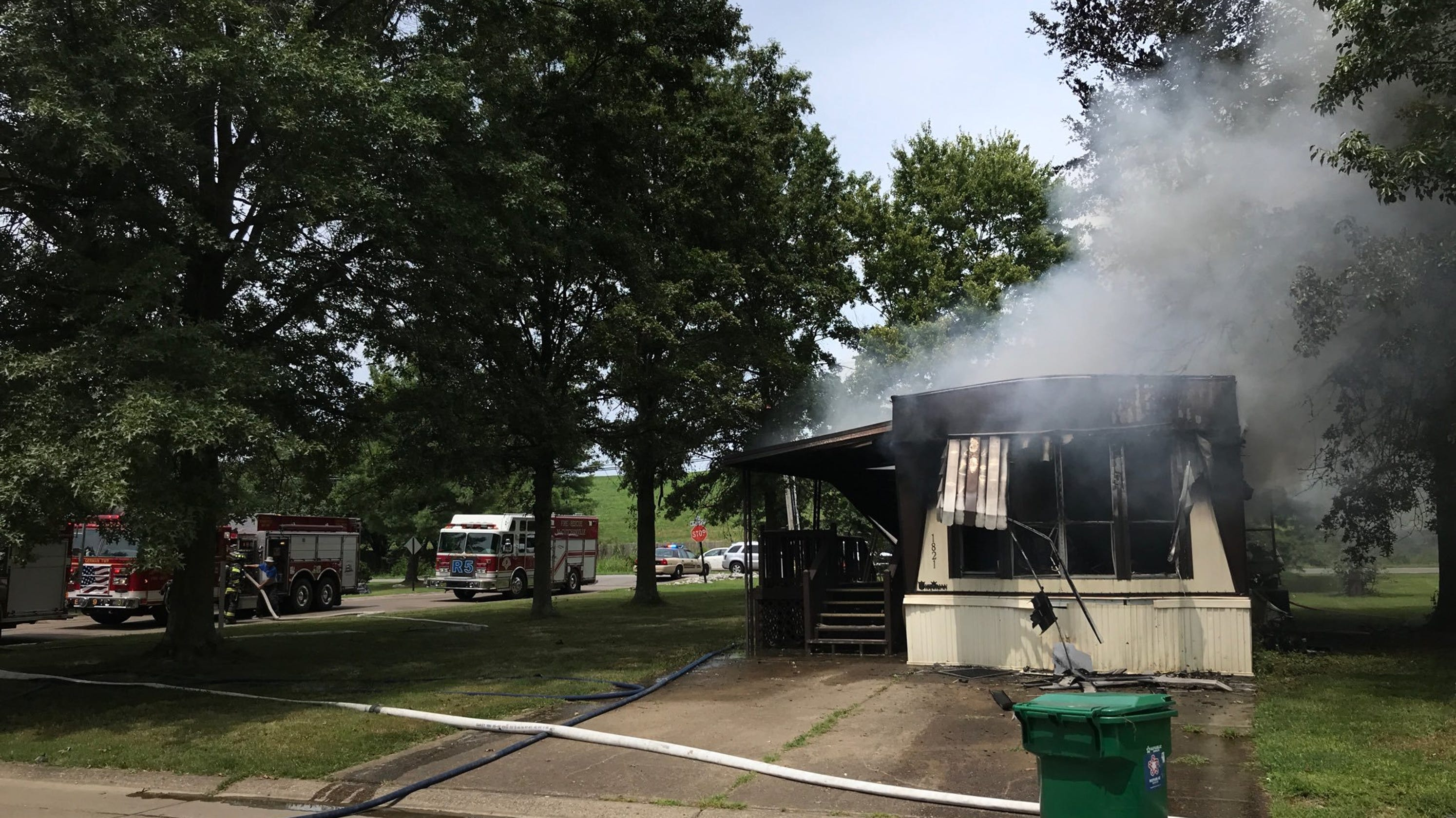 Mobile home fire reported in Vanderburgh County