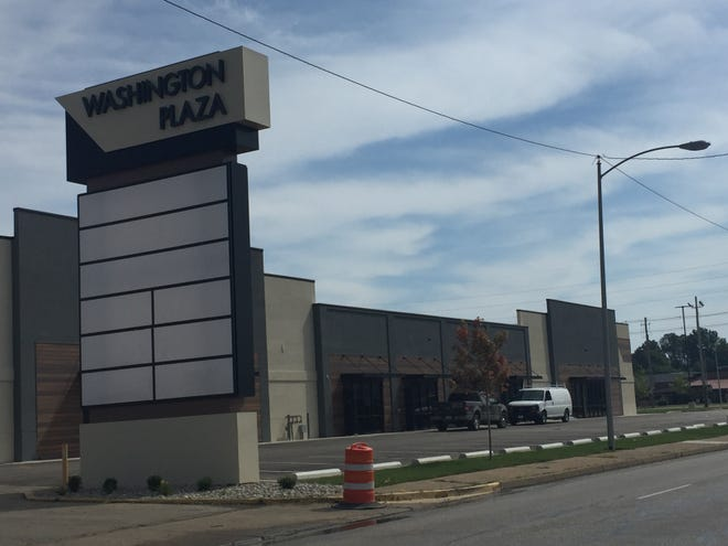 Washington Plaza, which for many years was a Schuncks store, is being redeveloped as an office building.