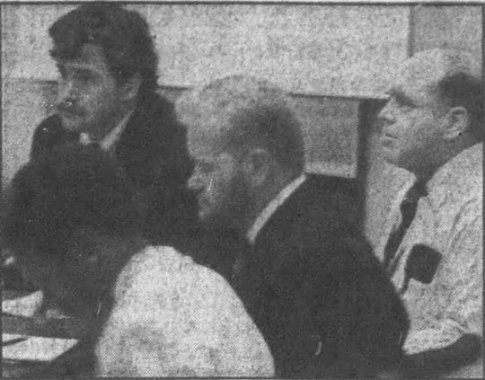 Raymond Matzker, right, during the start of his 1994 trial under Wisconsin's then-new sexual predator law.