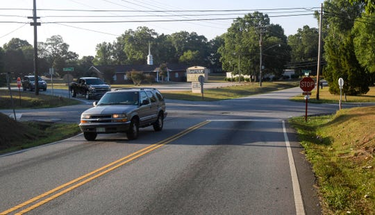 The five-way intersection of Rogers Road, Marchbanks Avenue and East Calhoun Street comes to a standstill during the school year due to nearby Calhoun Academy of the Arts' afternoon car line.