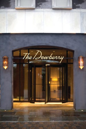 The front entrance at The Dewberry