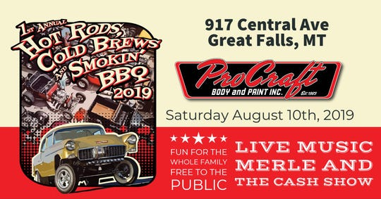 The first-ever Hot Rods, Cold Brews and Smokin' BBQ is this Saturday, August 10
