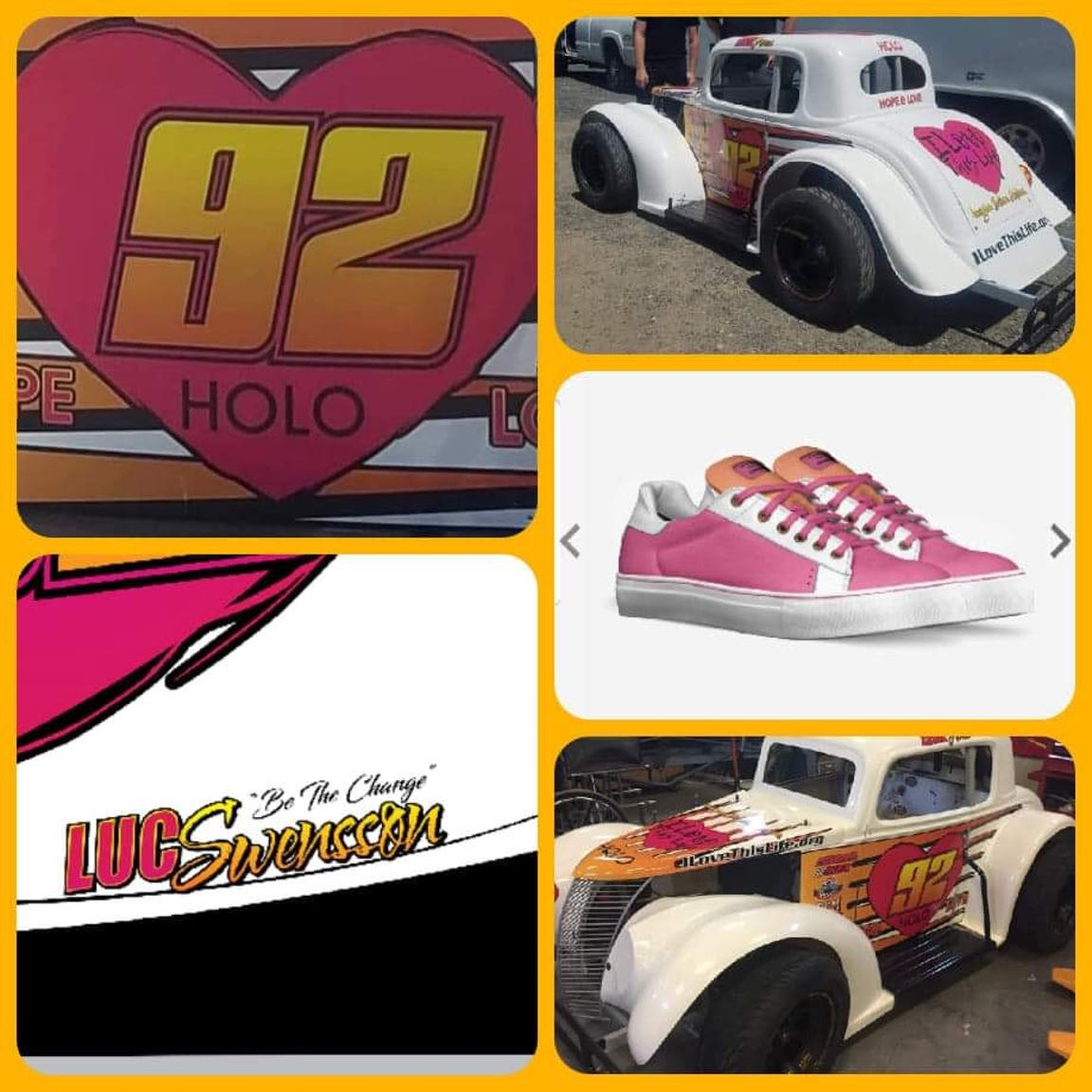Race car in tribute of the I Love This Life foundation