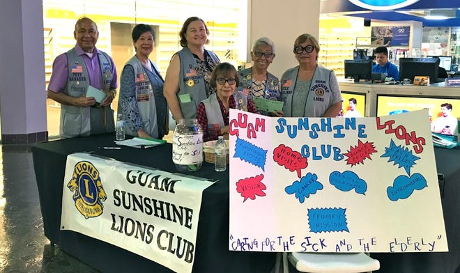 The Guam Sunshine Lios Club's annual fundraiser to help the sick and the elderly, as well as to assist in other community projects, is ongoing. Tickets: $5 available from members, also sold every other weekend till Oct. 20; noon to 8 p.m. Fridays, Saturdays; noon to 5 p.m. Sundays) at Guam Premier Outlet (across entrance to Ross). Cash prizes include $3000 grand prize, $2000 baby grand.  Drawing is at 2 p.m.,  Nov. 16 at Chamorro Village. Pictured: Sid Weedin. Standing: Pete Babauta, Marietta Camacho, Doris Cruz, Jovie Mejorada, and Jill Pangelinan. For information contact Mary Taitano at 486-7755 or Julie Cruz at (483-5659.