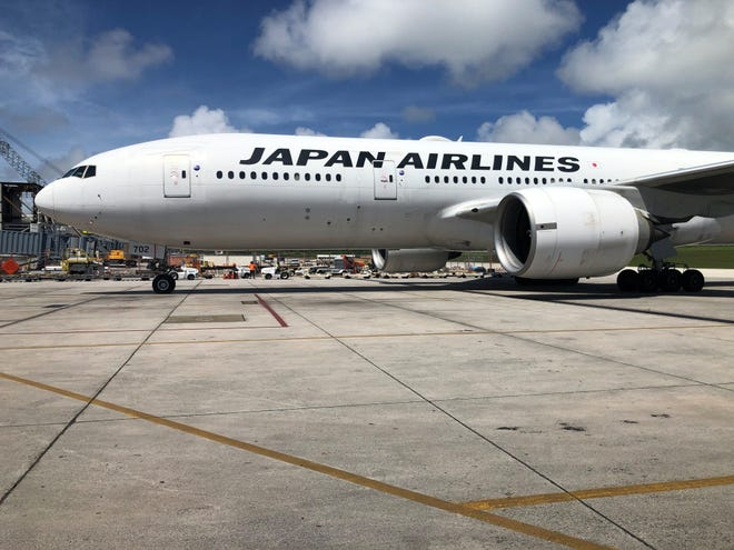 Japan Airlines as of Aug. 1 offers more seats on its Narita route with its B-777 carrier, according to an announcement. The B-777 offers 113 more seats than the B-767 carrier that the airline used to operate to Narita.