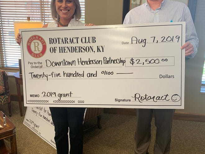 Downtown Henderson Partnership received a $2,500 grant from the Rotaract Club of Henderson.