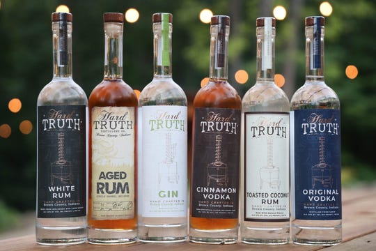 Hard Truth Distilling Co. spirits, an offshoot of Big Woods Restaurant Group, are produced in Nashville, Ind.