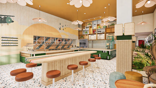 An image rendering of Little Momma, to be located at 103 West State Street. An opening date for the restaurant has not yet been determined.