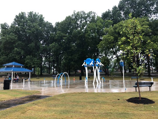 People in Whitehaven can cool off at the splash pad at the revitalized David Carnes Park in Whitehaven.