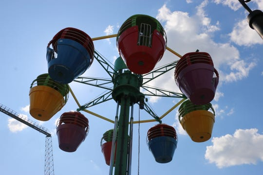 Up, Up and Away is a ride in Kidzopolis, one of three areas at Six Flags Great America dedicated to rides for young children.