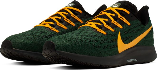 The Nike Air Zoom Pegasus 36 has been released in Packers colors.