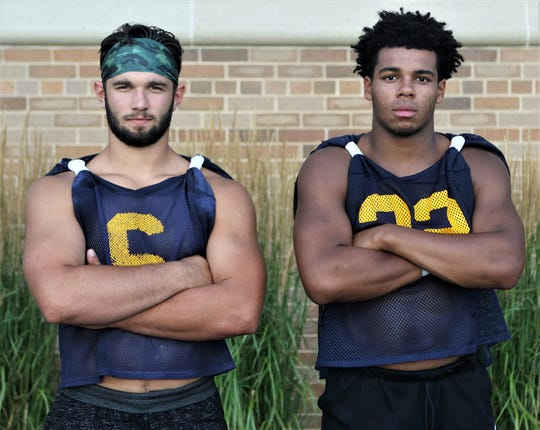 Linebackers Vinny Nigro (left) and Riley Nowakowski lead Marquette into the 2019 season with high expectations.