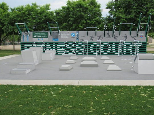 The city of Janesville partnered with the National Fitness Campaign in 2018 to build an outdoor fitness court. The West Allis common council in July voted to build a similar facility in Veterans Park in October.