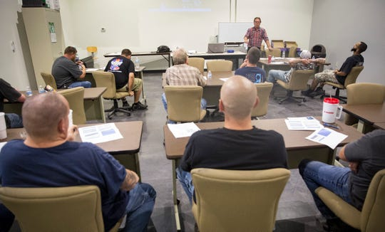 Students listen to their instructor on Aug. 8 at the Purdue Polytechnic branch inside Madjax. Polytechnic along with other educational partners are working with local industry to help train the needed work force.