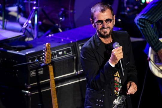 Ringo Starr and His All-Starr Band perform at the Ryman Auditorium in Nashville, Tenn., Wednesday, Aug. 7, 2019.