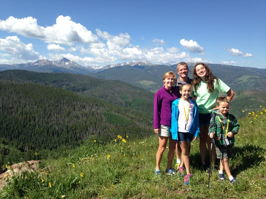 The Blankenship family poses during a trip to Colorado for the Aspen Marathon in July 2015.