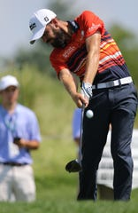 Troy Merritt was at the top of the leader board early Thursday afternoon during The Northern Trust, at Liberty National Golf Club. Thursday, August 8, 2019
