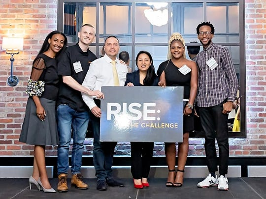 There were five finalists in five different categories for the RISE: The Challenge business pitch competition. Dominique Anderson (second from right), a Glen Ridge resident, won the top $15,000 prize for her support coordination agency, Rising Strides.
