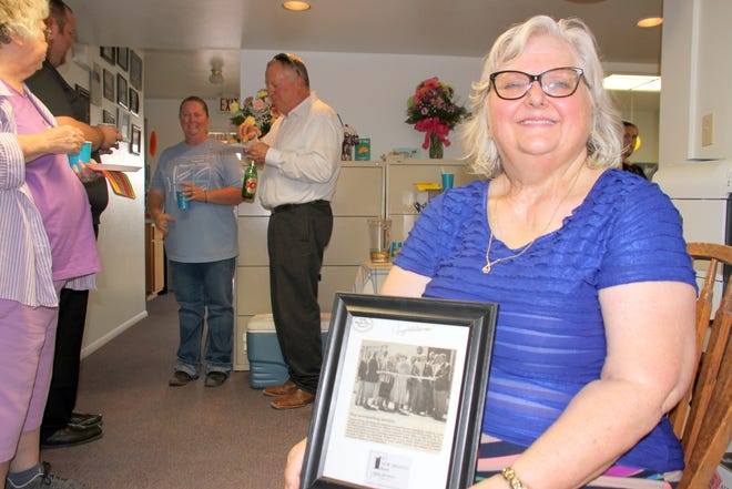 Tamara Hurt greeted guests during a fiesta celebrating Tamara G. Hurt, CPA, PC 30-year anniversary in the Deming business community.