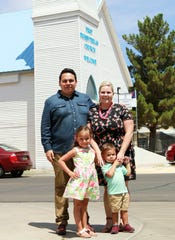 Pastor James Baylor, with wife Morgan and their two children, Ellie and Jeremiah.