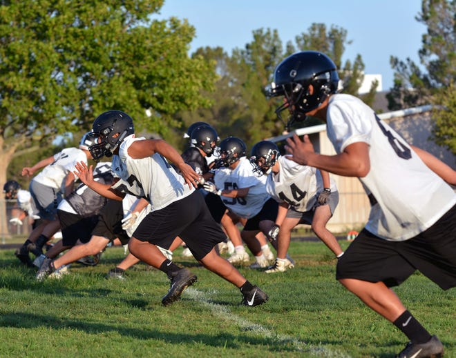 Oñate High School opened up the 2019 season with their day of practice early Monday morning.  Photo taken 8/5/19.