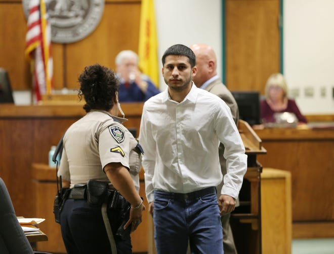 Lalo Castrillo appeared in Third Judicial District Court, Thursday, Aug. 8, 2019, for a bond review hearing. Castrillo, who is accused in the death of 2-year-old Faviola Rodriguez last year, will remain out on bond.