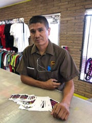 Ruben Carrasco, a UPS driver from Las Cruces, recently purchased over $140 worth of decals to support El Paso victims' families.