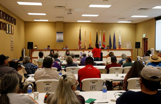 The Resources and Development Committee held a special meeting on Aug. 6 to listen to public comments about a proposal to approve a land lease between the Navajo Nation and Navajo Agricultural Products Industry.