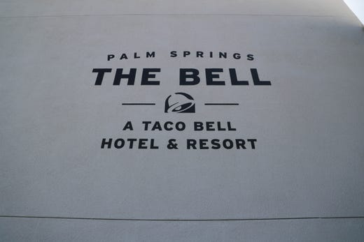 Taco Bell's 'The Bell' hotel in Palm Springs, Calif. on Thursday, August 8, 2019.