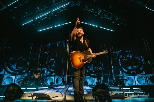 """""""There's nothing like ... having a crowd sing back to you and actually seeing people having excitement because of what you're doing on stage,"""" Chris Young says."""