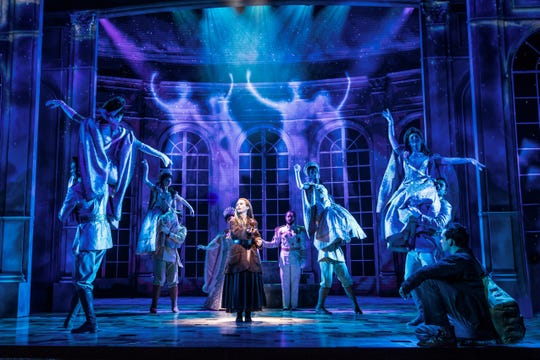"""Lila Coogan and Stephen Brower in the national tour of """"Anastasia."""""""