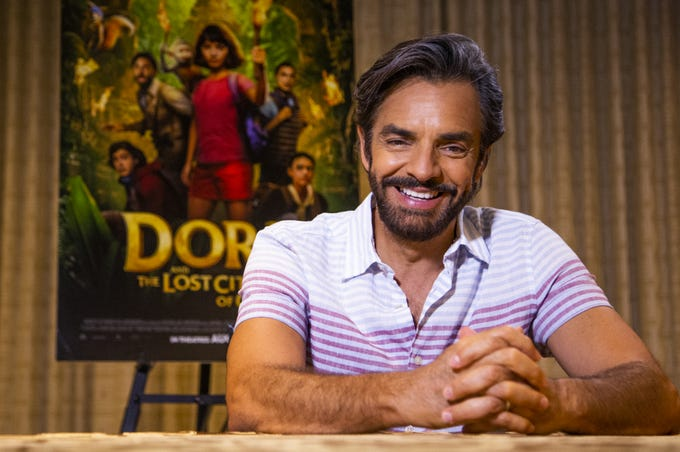 "Eugenio Derbez promotes ""Dora and the Lost City of Gold"" at the Phoenician Resort on Aug. 6, 2019."
