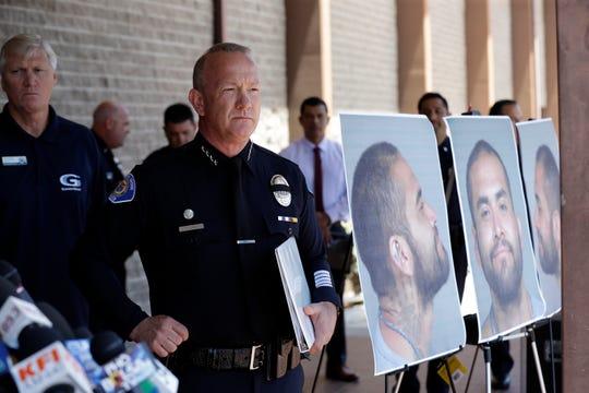 Tom DaRe, Jefe de Policía de Garden Grove, en rueda de prensa.