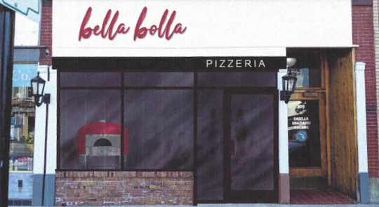 A rendering of the BellaBolla oven pizzeria planned for 309 Huron Ave. The Marion family got the OK from Port  Huron's Historic District Commission Tuesday, Aug. 6, 2019, on their project's facade.