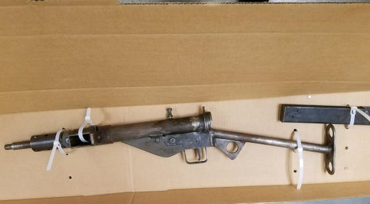 A fully automatic Sten Mark II sub-machine gun was found in a Duane Street residence on July 19, 2019.